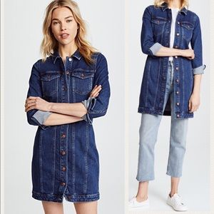 da7ed76670c Madewell Dresses - MADEWELL - NWT denim seamed button front dress
